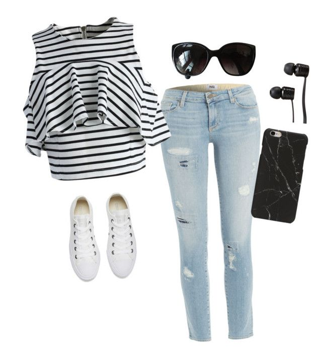 """Feeling 22"" by lorettamaxey ❤ liked on Polyvore featuring Paige Denim, Converse, Chicwish, Vans and Chanel"