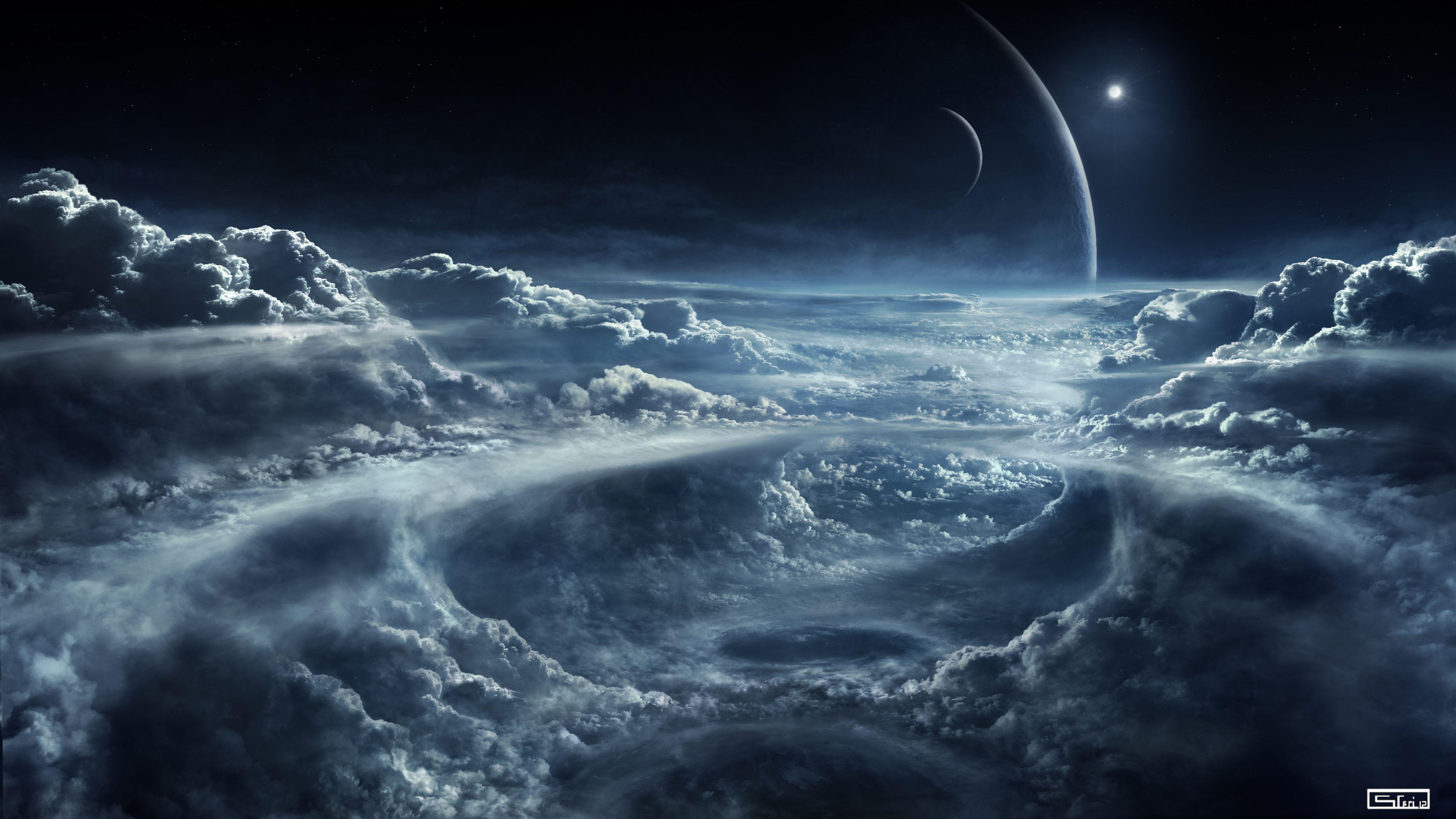 4K Space and Clouds Wallpaper 4K Wallpaper Ultra HD 4K