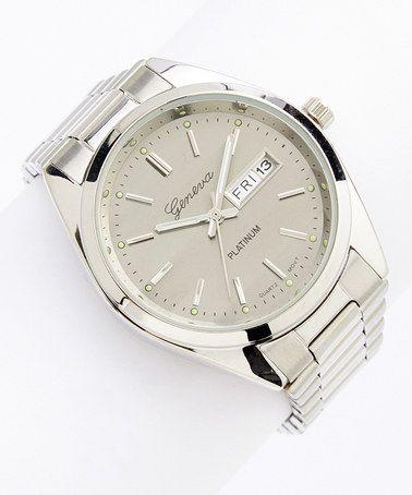 Another great find on #zulily! Silver & Gray Modern Minimalist Bracelet Watch #zulilyfinds
