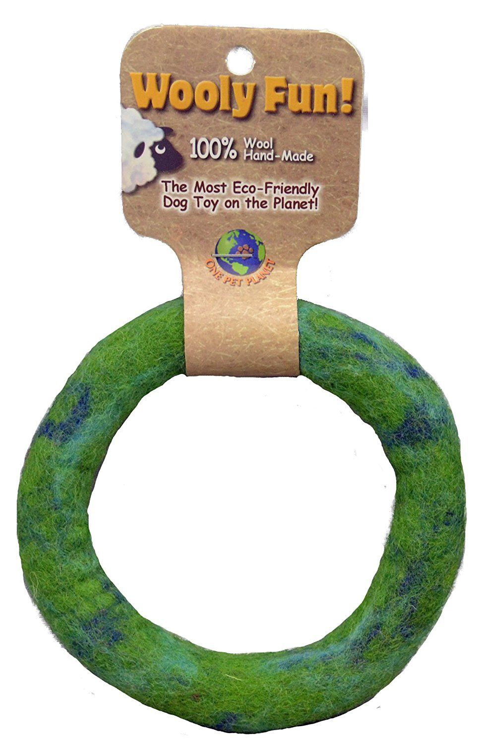 One Pet Wool Dog Toy, 5Inch, Green * Click image