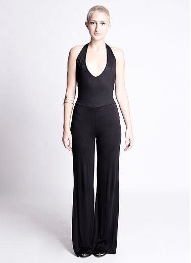 f067fa080ceb Capote Backless Halter Top Jumpsuit in Black