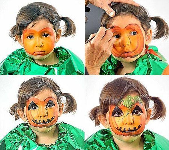 Maquillaje artistico infantil paso a paso fotos 20