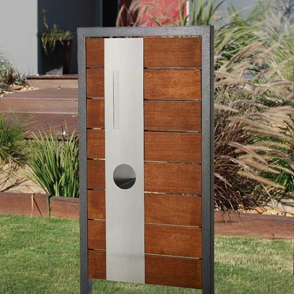 Thomastown Timber Panelling Stainless Steel Mailbox Fire Pits For Sale
