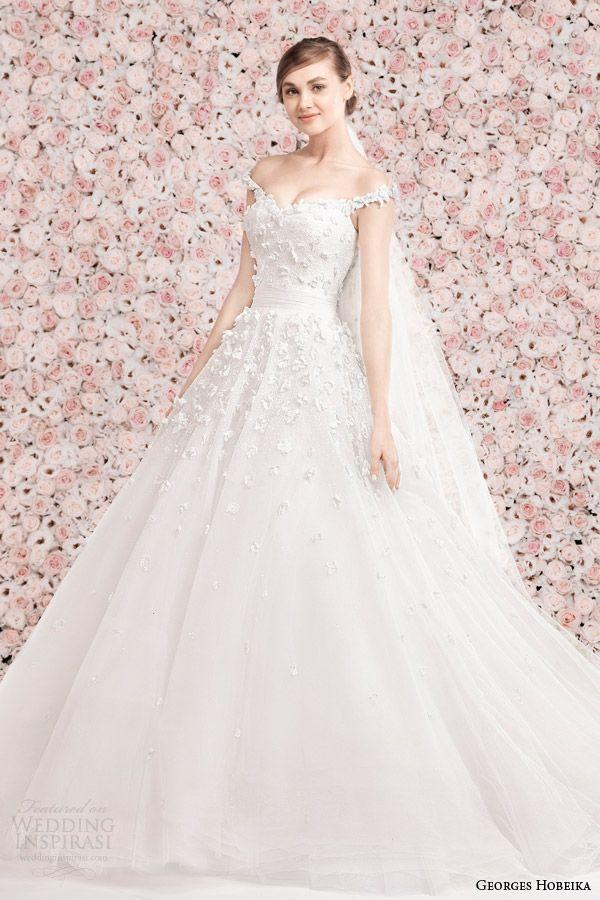 http://www.weddinginspirasi.com/2014/01/17/georges-hobeika-bridal-2014-wedding-dresses/ georges hobeika bridal spring 2014 #wedding dress with off the shoulder straps #weddings #weddingdress