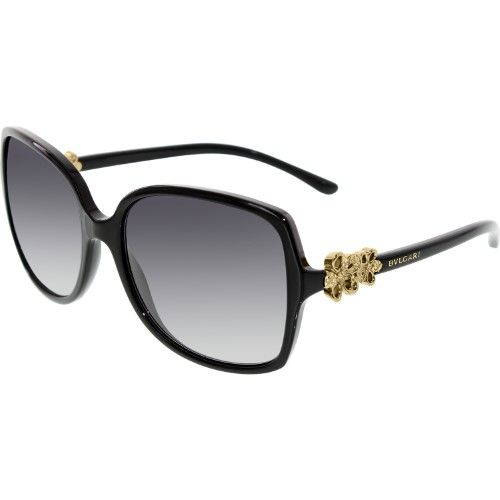 b8d35838fe19 Bvlgari Women s Gradient BV8120B-501 8G-57 Black Butterfly Sunglasses