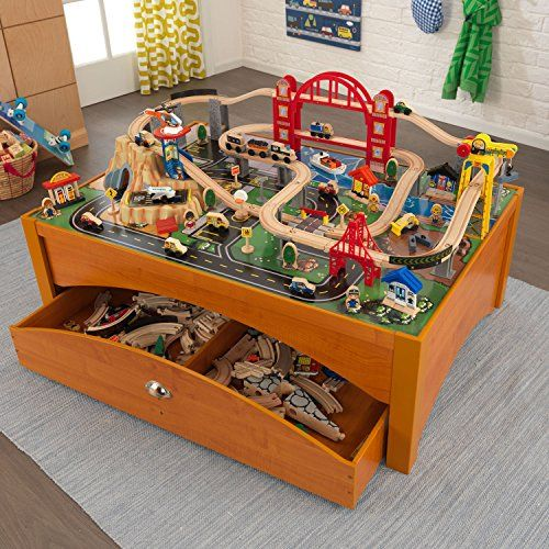 KidKraft Metropolis Train Table, Honey KidKraft http://www.amazon ...