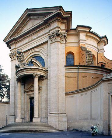 Architect Gian Lorenzo Bernini designed Sant'andrea al ...