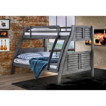 Easton Bunk Bed Twin Over Full Gray Products Pinterest Bunk