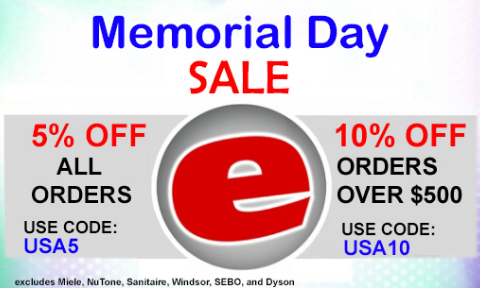 Memorial Day Sale Save Up To 10 During This Memorial Day Special Orders Under 500 Are Eligible For 5 Off By Using Coupon Clean House Miele Central Vacuums