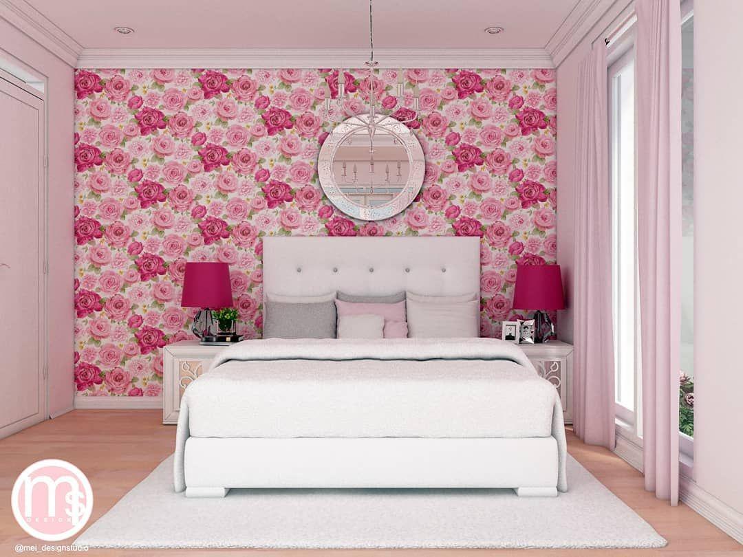 PINK BEDROOM __  Design by @meilindasukmana