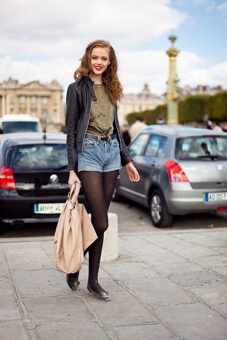 Tights & shorts... adorable