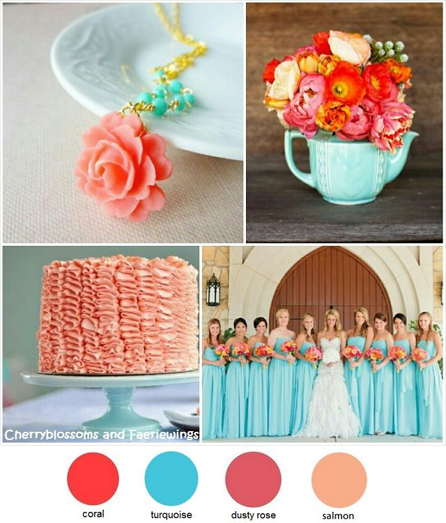 Coral Turquoise Wedding | Wedding Blog | Cherryblossoms and ...