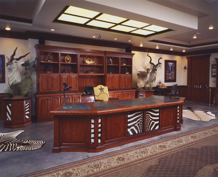 Bon Setup As Office And Trophy Room Combined