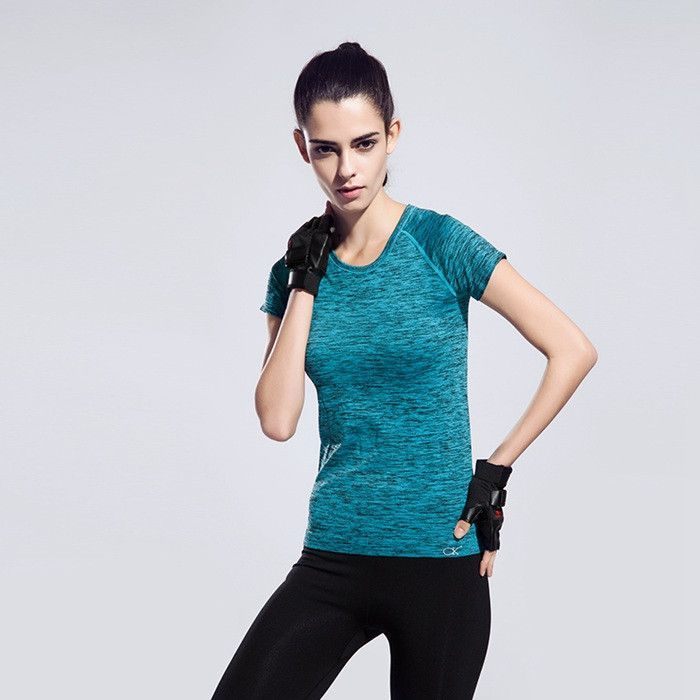 2de99b4136841 Workout Running Clothes For Women Quick Dry Yoga Shirt Sports Fitness Gym  Clothing Ladies Sportswear Summer Short-sleeve T-shirt