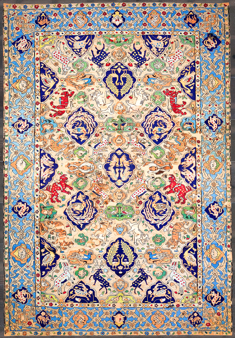 Persian carpet silk, 16th century
