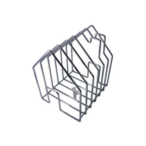 Invotis Orange Wire House OR9017c Magazine Rack Orange