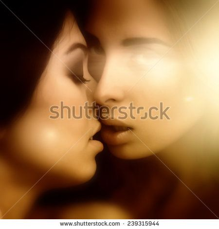 Sexy Two Girls Kissing