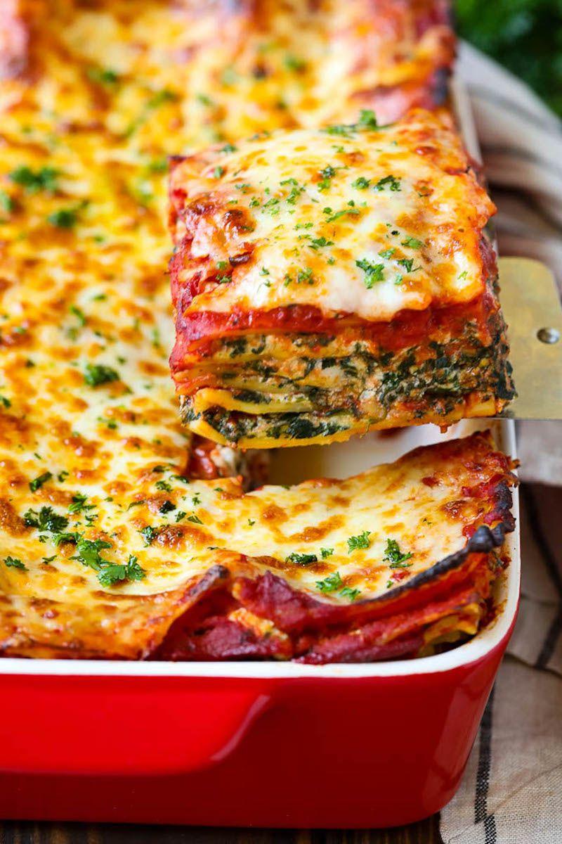 Weekly Meal Plan Spinach Lasagna At Dinner At The Zoo Vegetarian Lasagna Recipe Easy Lasagna Recipe Veggie Lasagna Recipe