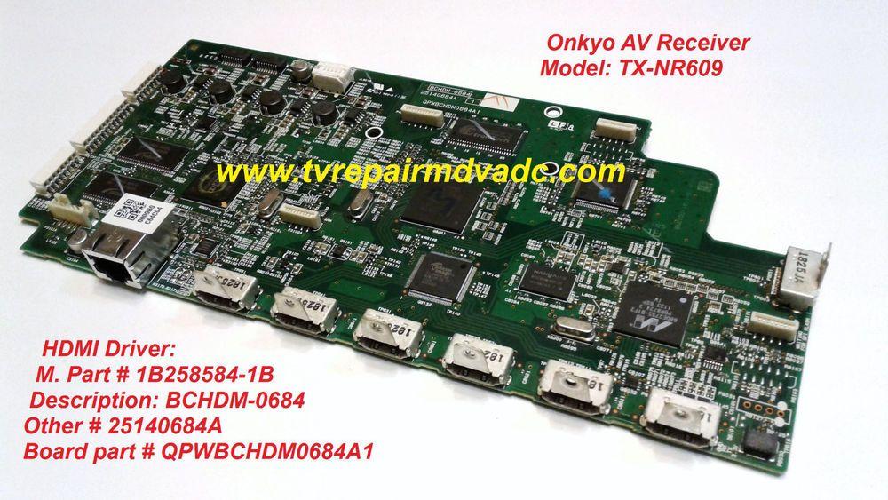 Onkyo HDMI Driver: 1B2585684-1B  QPWBCHDM0684A1 / Tested