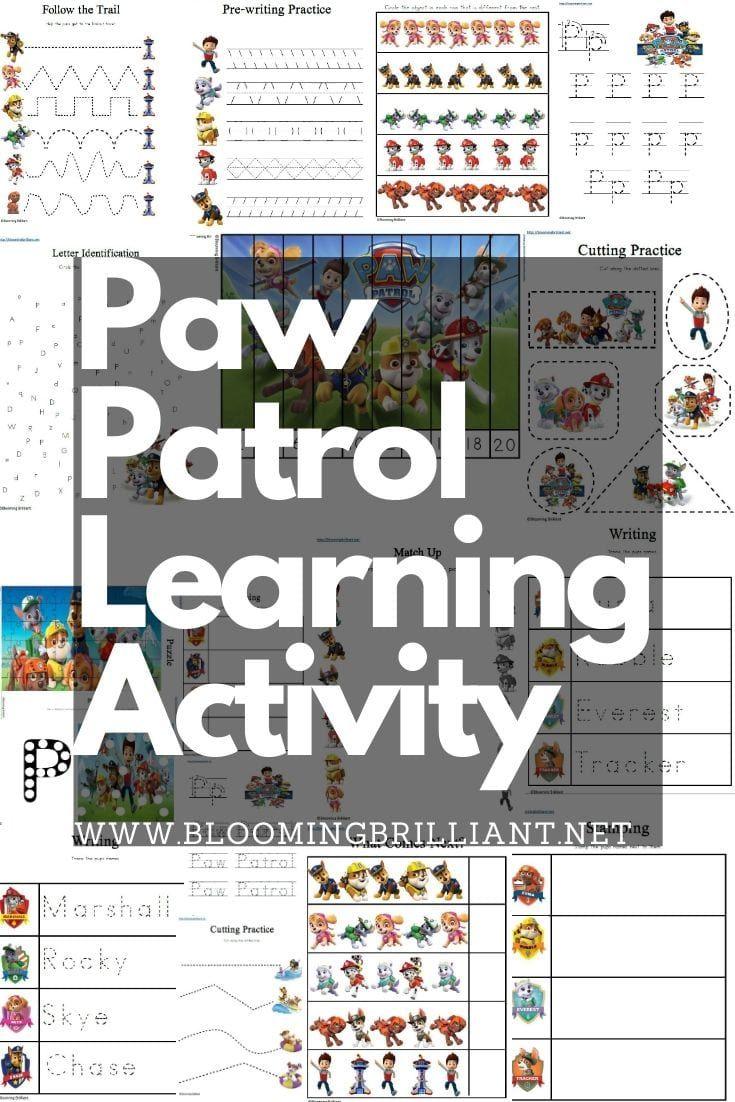 Paw Patrol Preschool Learning Activity Pack Preschool Learning Pre Writing Practice Preschool Learning Activities [ 1102 x 735 Pixel ]