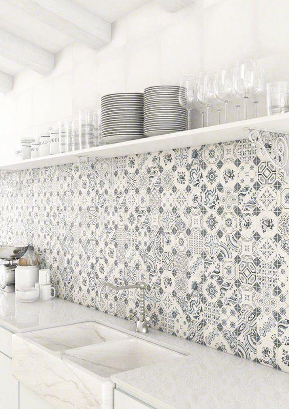 piastrelle adatte a pareti e pavimenti per cucine di diversi stili, dimensioni e colori con design moderno e classico. Pin Su Cucina