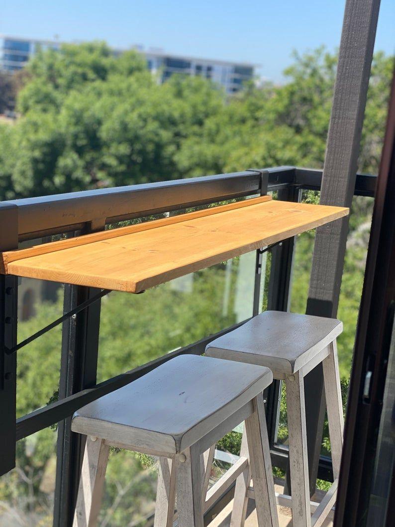 39++ Balcony railing bar table ideas