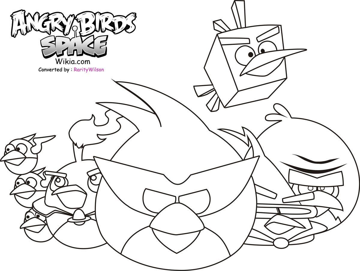 angry birds to color angry birds space game coloring pages