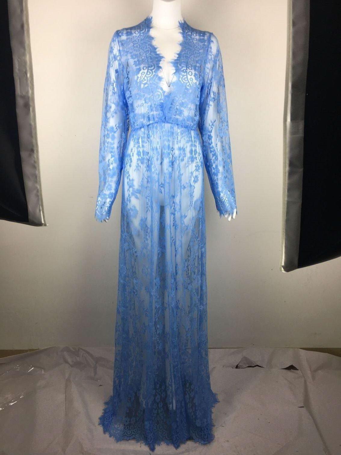 Maxi Plus Size Women Floor-Length Black White Autumn Lace Dress ...
