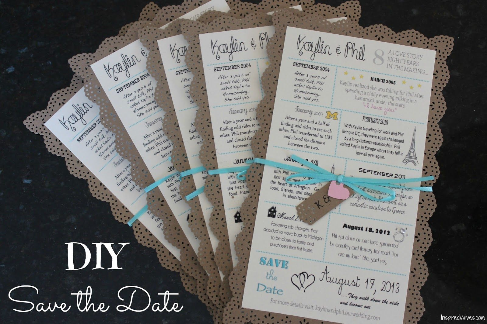Inspired Wives: Story of Us DIY Save the Date