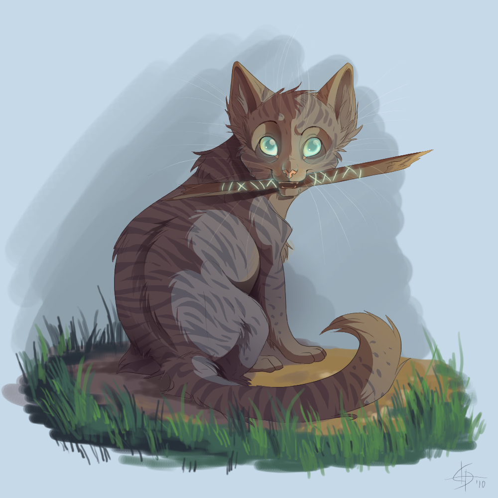Jayfeather and his stick MY STICK