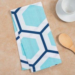 Blue & White Honeycomb Kitchen Towels
