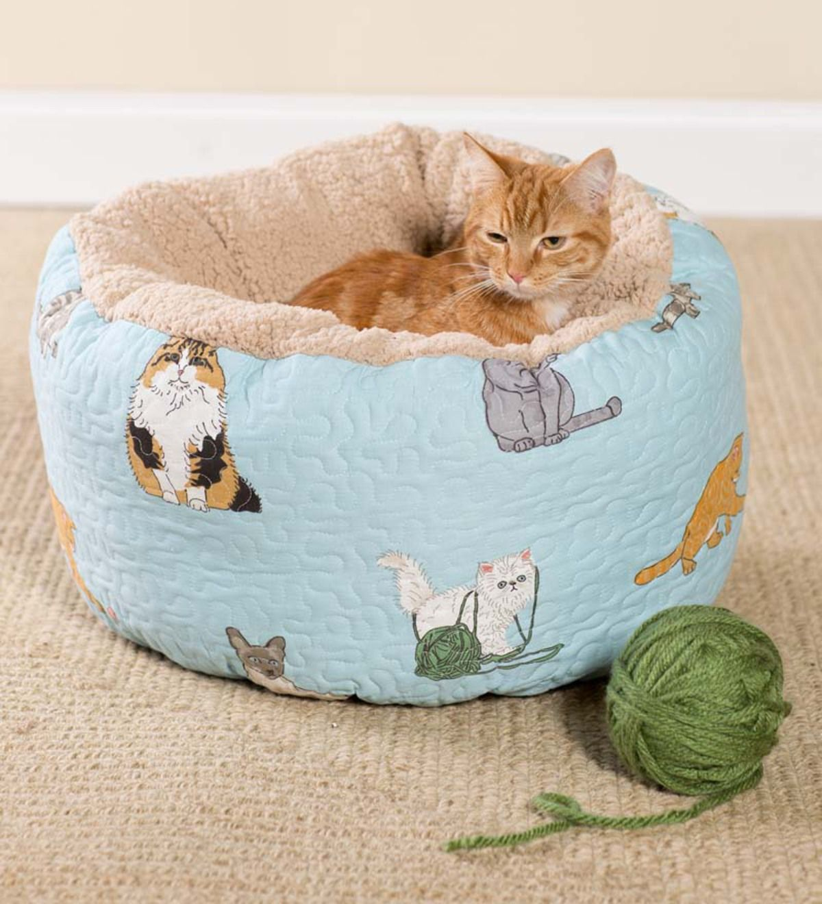 Kitten Caboodle Cat Bed Pouf Cat Bed Kitten Cats