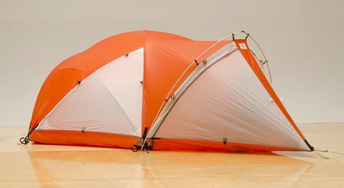 The SlingFin HardShell tent is the equivalent of Air Force One for mountain climbers and polar explorers. Its innovative design and premium materials make the tent reasonably lightweight (12 lb. 4 oz. with carbon poles), easy to setup, and castle strong. It's like a portable luxury suite for the world's most heinous conditions.