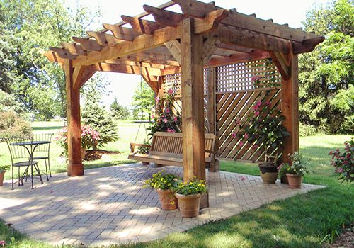 Building Your Own Patio surprising terrific and enchanting pergola pillars : green grass