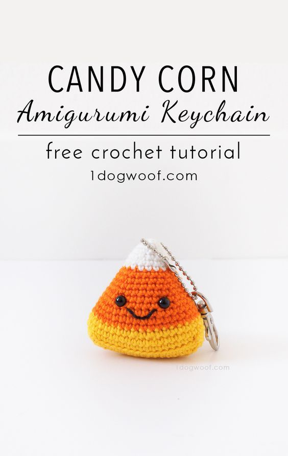 Candy Corn Amigurumi Keychain | Llaveros, Patrones amigurumi y Ganchillo