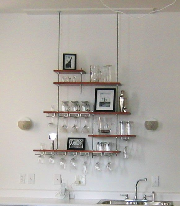 Wall Shelf With Hanging Rod floating shelf threaded rod - google search | for the home