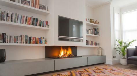 modern fireplace - Buscar con Google Chimeneas Pinterest