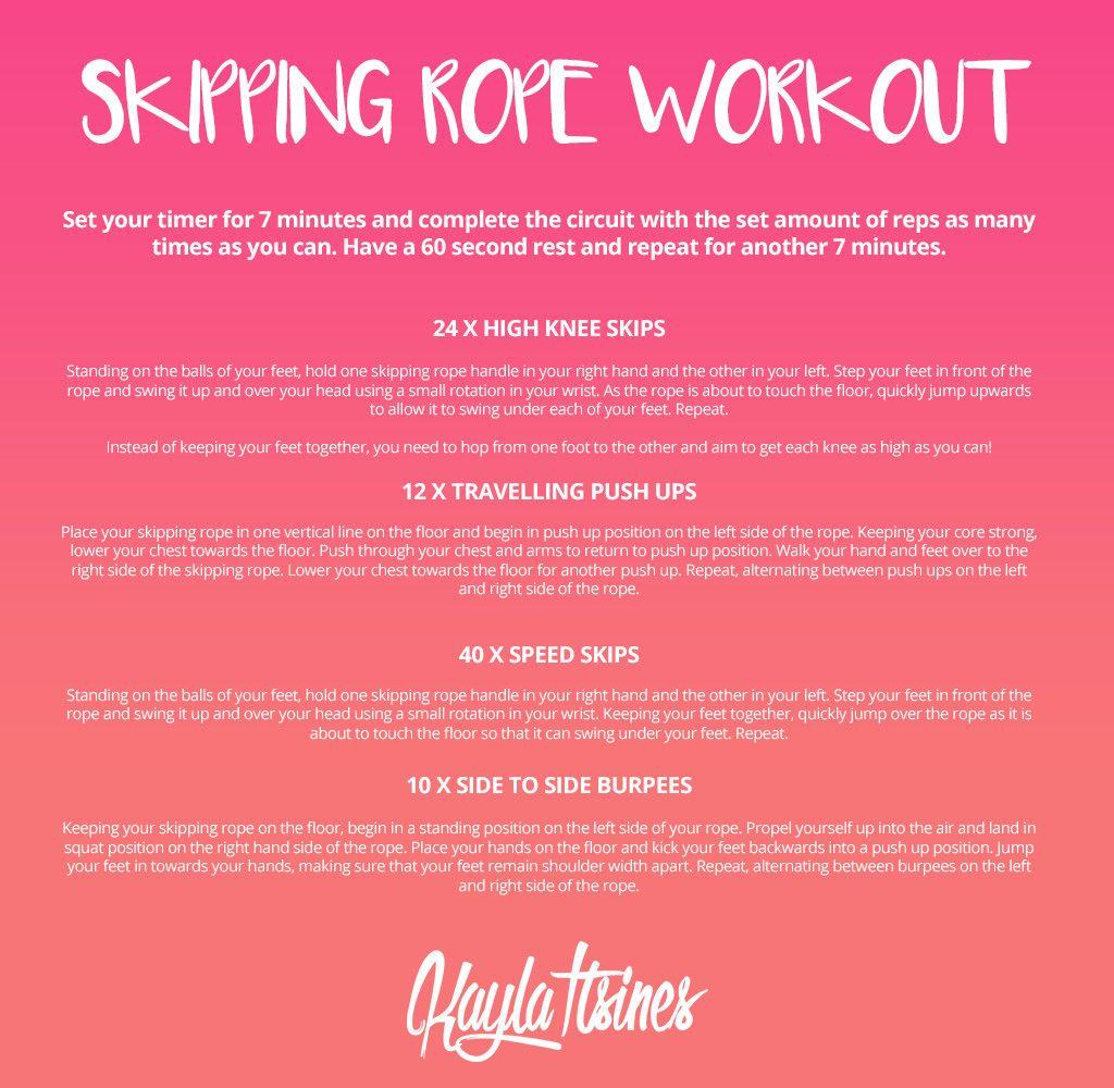 Jump Rope Workout For Beginners Kayla Workout Kayla Itsines Workout Bbg Workouts
