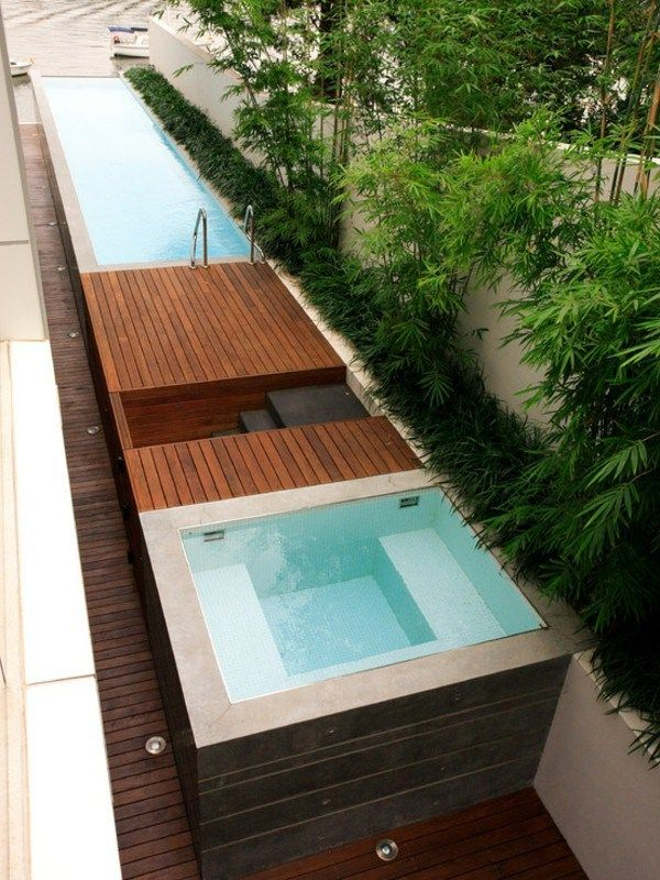 Swimming Pool In The Garden 34 Great Designs Decor10 Blog Jacuzzi Outdoor Hot Tub Landscaping Pool Landscaping