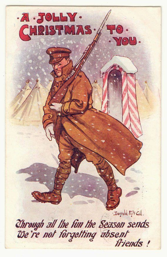 wwi c 1916 christmas card wwi covered live