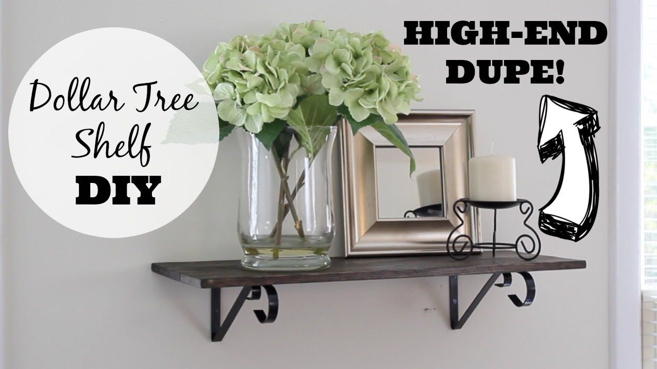 In This Dollar Tree Diy I Show You An Easy Shelf Inspired By