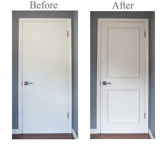 DIY Series   Two Panel Door Moulding Kit   Get The Custom, High End Look In  Your Home