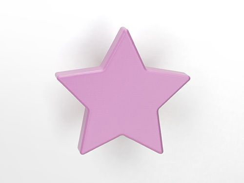 Stern rosa Möbelknopf für Kinderzimmer Kinderzimmer