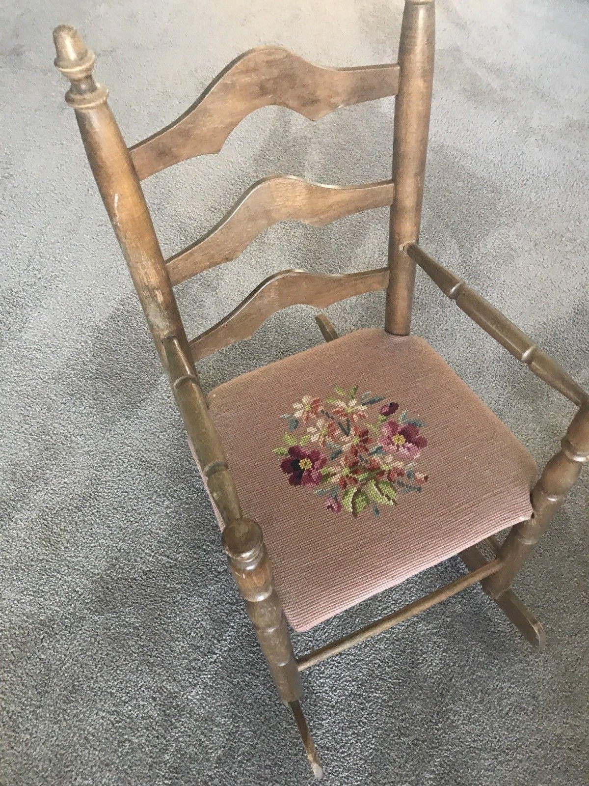 Walnut Eastlake Carved Rocker r39 Rocking Chair