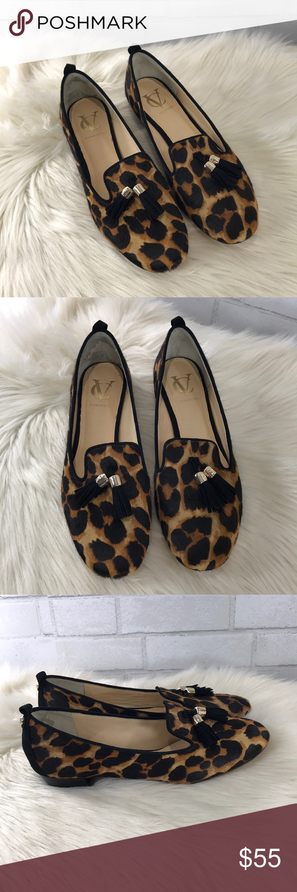 f3275015bfd8 Vince Camuto Calf Hair Leopard Print Tassel Flats This is a pair of VC  Signature by