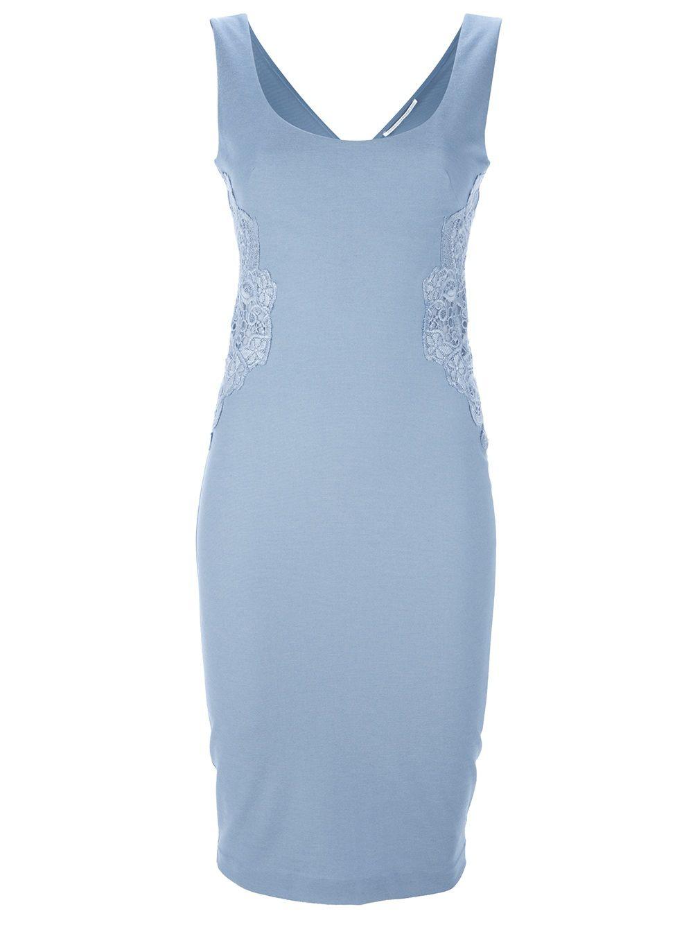 Ermanno Scervino Vestido Azul. - Splash - Farfetch.com.br
