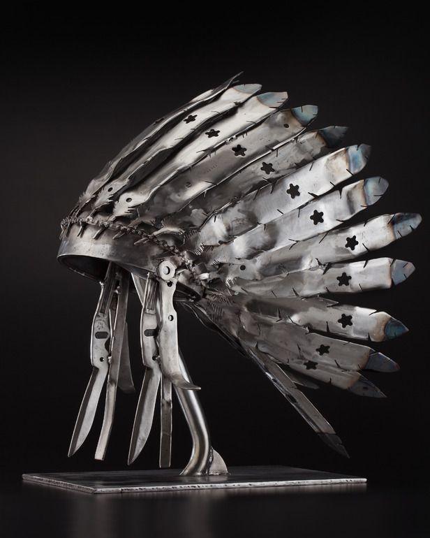 "Saatchi Online Artist: Peter McFarlane; Metal, 2012, Sculpture ""(Lawn Mower) Blade Bonnet"""