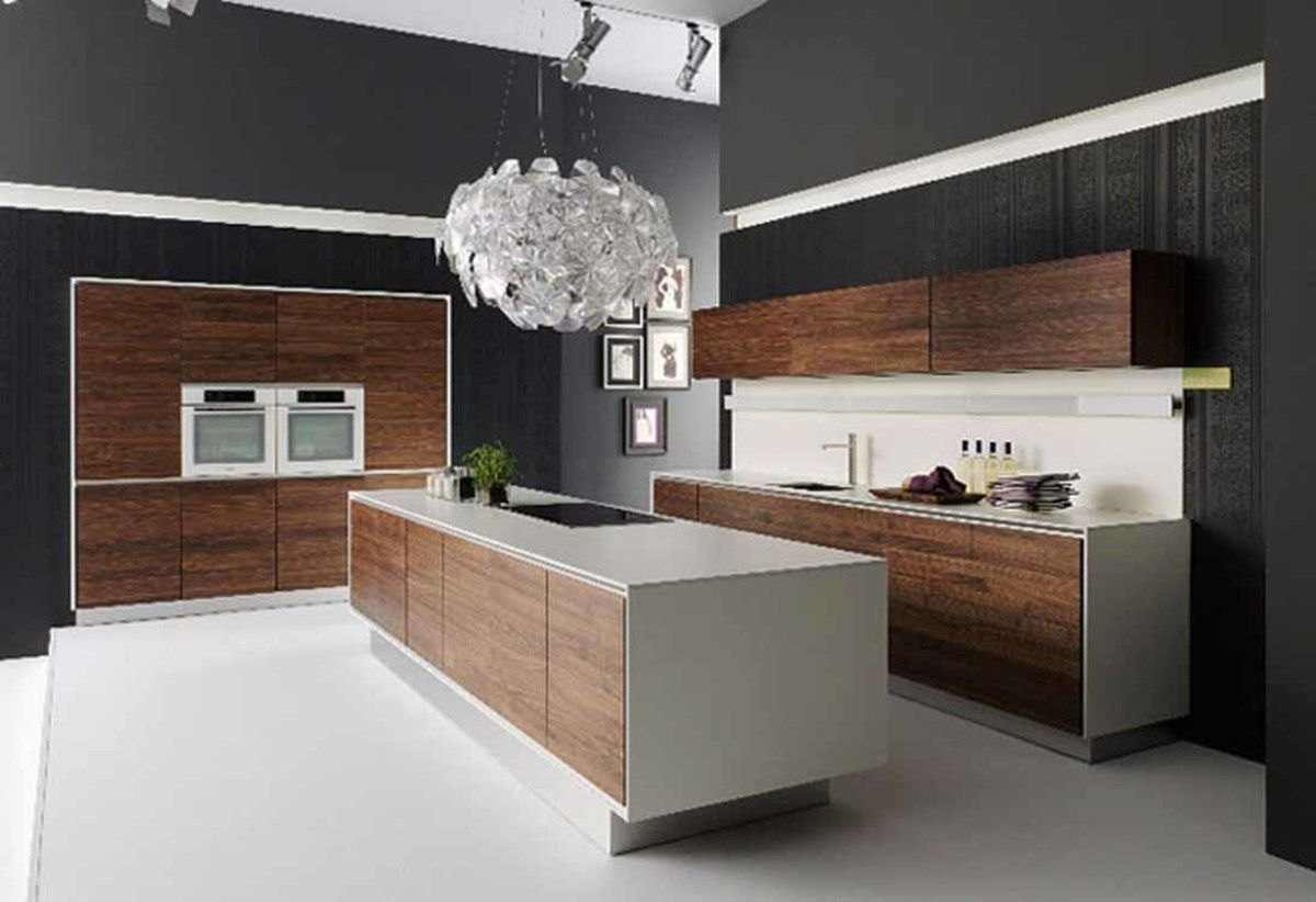 kitchen accessories furniture enchanting black wall painted modern ...