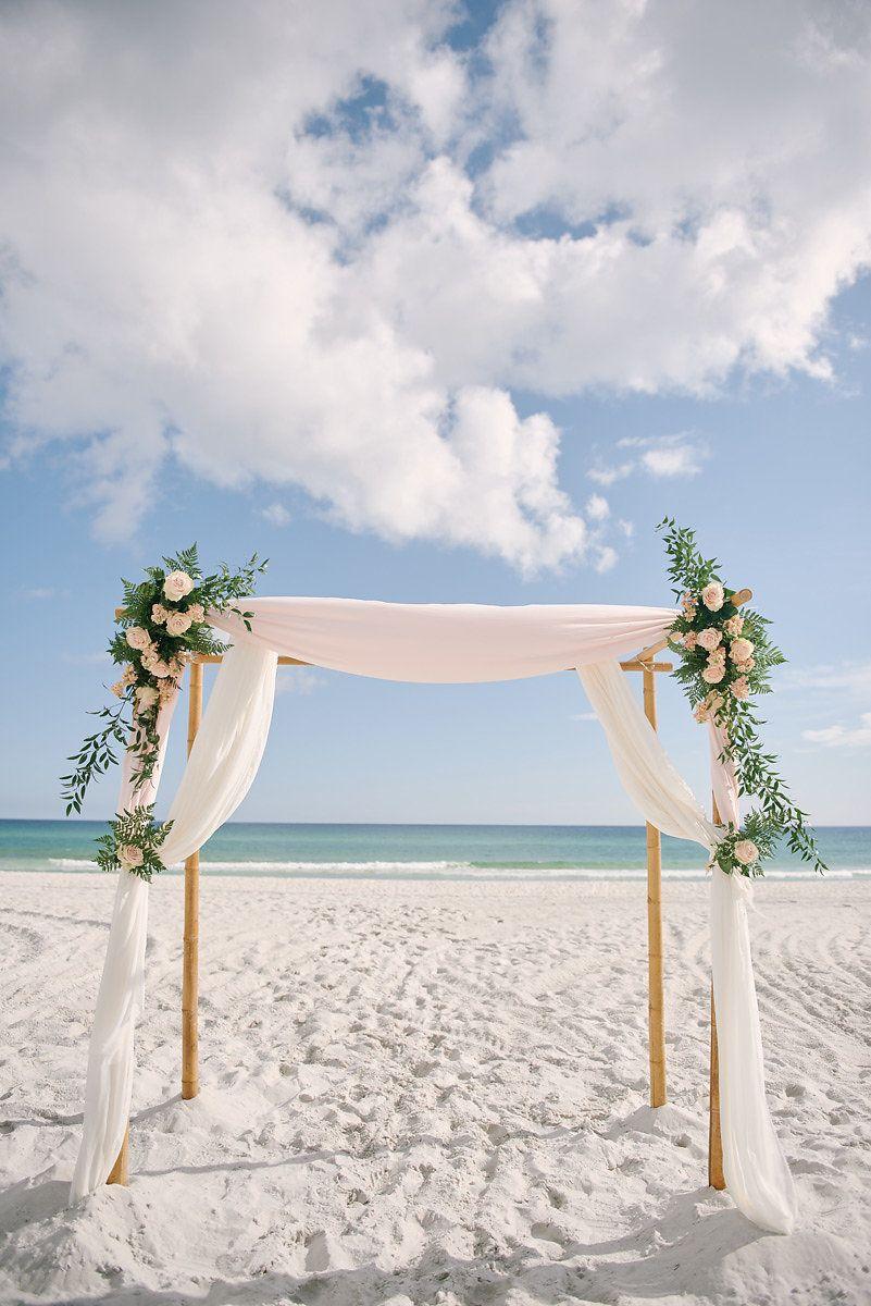 Beach Wedding Arch Destination Wedding White Sand Beaches Emerald