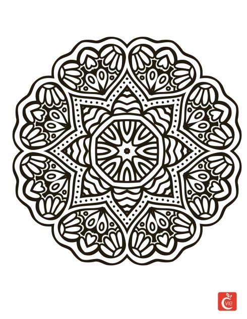 Fine Coloriage Superbes Mandalas Mandalas Rectangle Model - Coloring ...